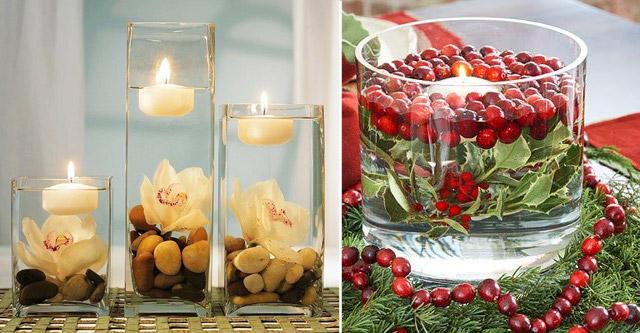 плавающие новогодние свечи